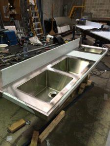 Stainless-Steel-bathroom, splash backs fabrications, dandenong melbourne vic